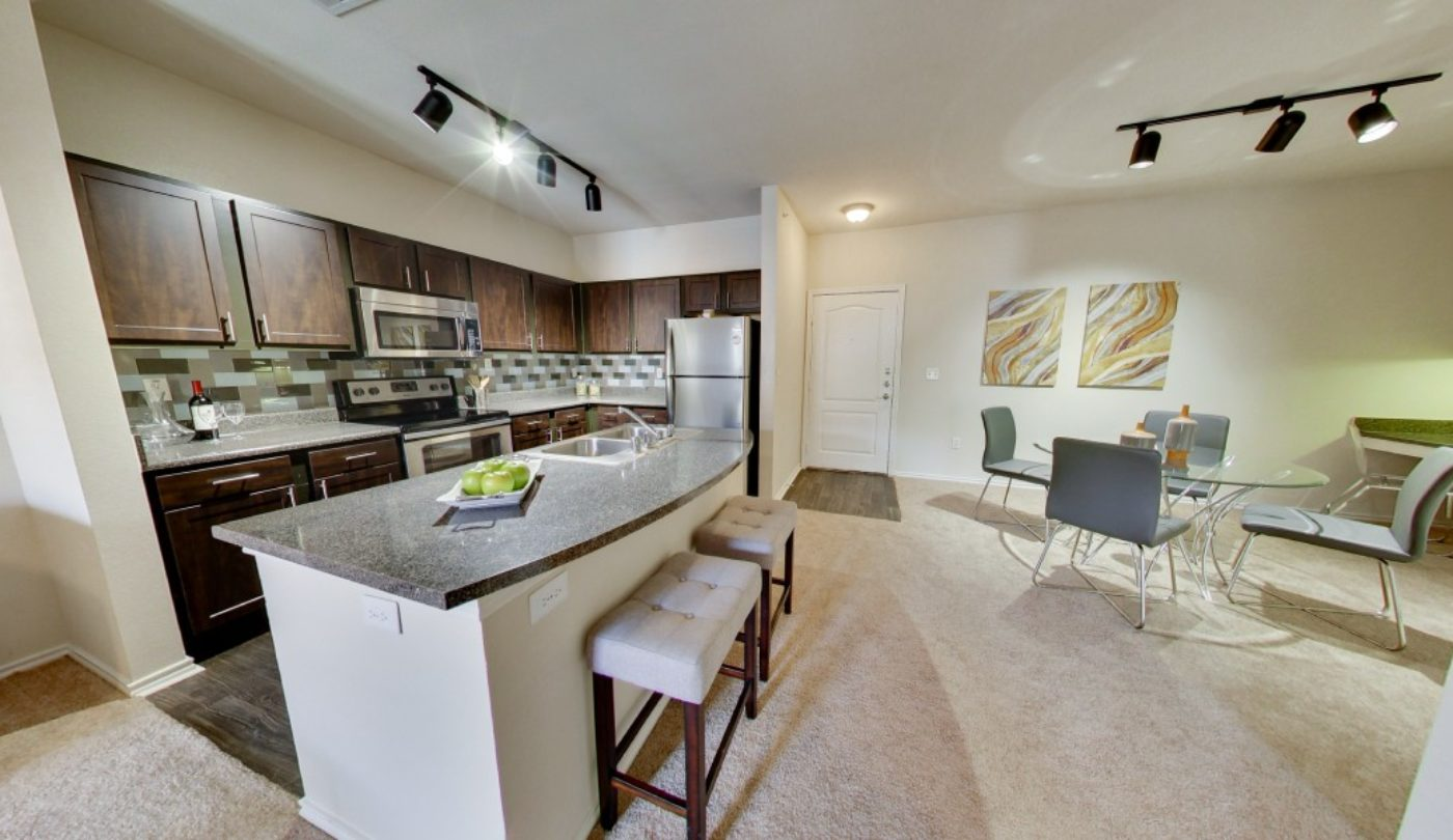 Allura is a community of Irving tx apartments that feature modern, open-concept floorplans.