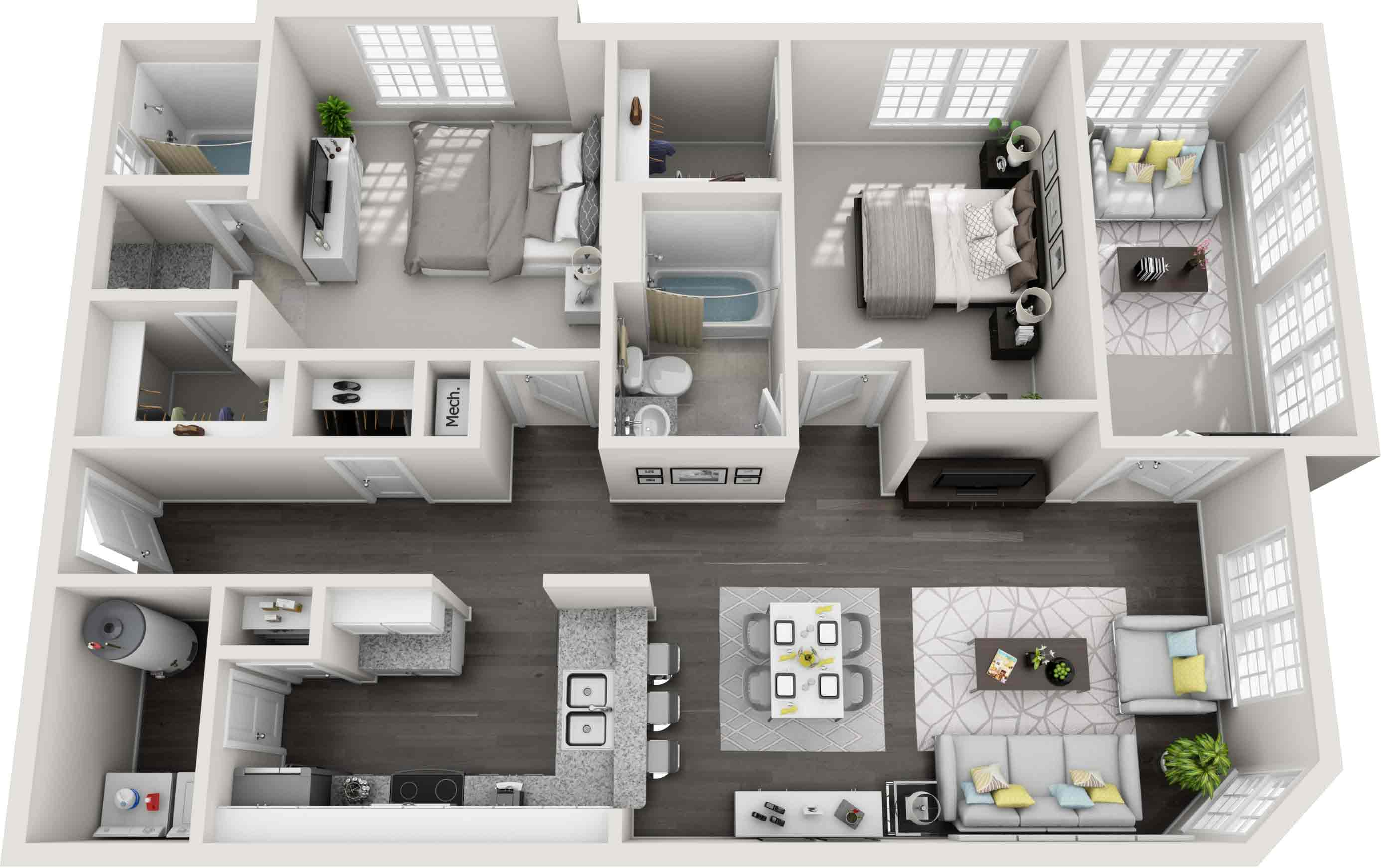 estates at new albany two bedroom apartment 1217 square feet